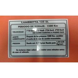 ADHESIVO DE RODAJE 'LI-125'