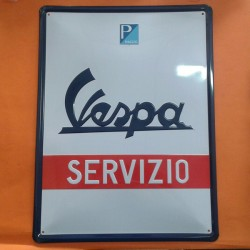 PLACA METAL RECTANGULAR 'VESPA' 40/30cm
