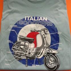 CAMISETA ITALIAN SCOOTER CELESTE (XL)