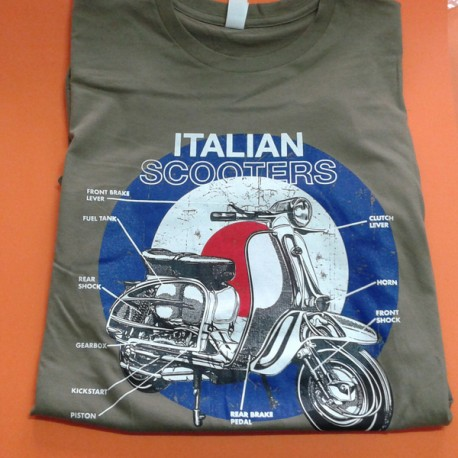 CAMISETA ITALIAN SCOOTER VERDE (XL)
