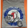 CAMISETA ITALIAN SCOOTER GRIS (XL)