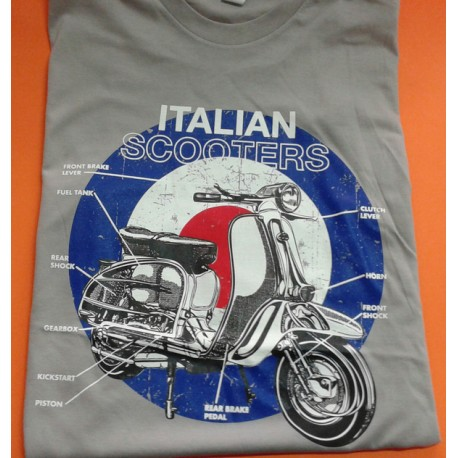 CAMISETA ITALIAN SCOOTER GRIS (M)