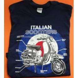 CAMISETA ITALIAN SCOOTER AZUL (S)