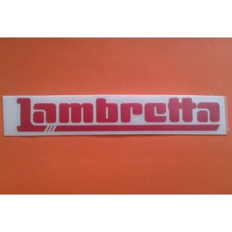 ADHESIVO 'LAMBRETTA' ROJO