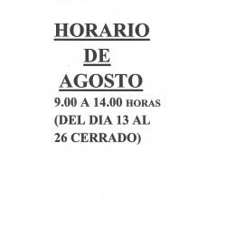 HORARIO DE AGOSTO