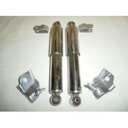 Kit amortiguadores delant. cromados+pletinas sujeccion S2/S3.