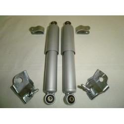 Kit amortiguadores delantero grises+Pletinas sujeccion S2/S3.